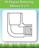 90 Degree Reducing Elbows (S x T)