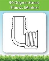 90 Degree Street Elbows (Marlex)