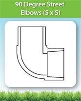 90 Degree Street Elbows (S x S)