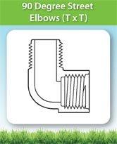 90 Degree Street Elbows (T x T)