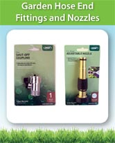 Garden Hose End Fittings and Nozzles
