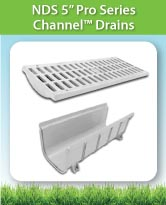 NDS 5 Inch Pro Series Channel™ Drains