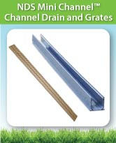 NDS Mini Channel™ Channel Drain and Grates