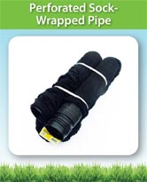 Perforated Sock Wrapped Pipe