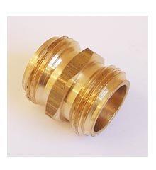 Hose Adapter, 3/4″ Male Hose Thread x 3/4″ Male Hose Thread – Brass