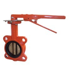 Butterfly Valve, 4″ Cast Iron With 10-Position Handle – Wafer Style