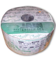 Drip Tape, 5/8″, 8-Mil 0.4 GPM / 100 ft @ 10 PSI, 7500′ Roll