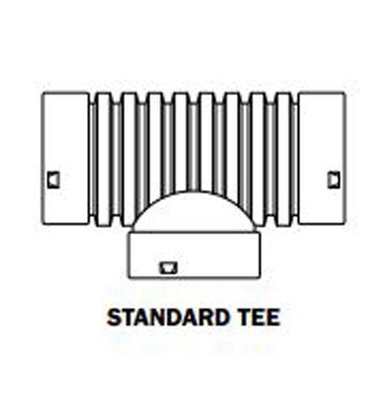 Corrugated Drain Pipe, Tee, 4″ HDPE