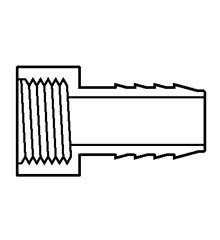 Insert Female Adapter, PVC  1/2″ Insert x Female IPT
