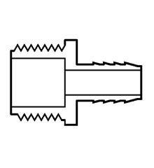 Insert Male Adapter, PVC  2-1/2″ Insert x Male IPT