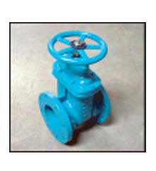 Gate Valve, Cast Iron Epoxy Coated, 4″ Flanged, with Hand Wheel