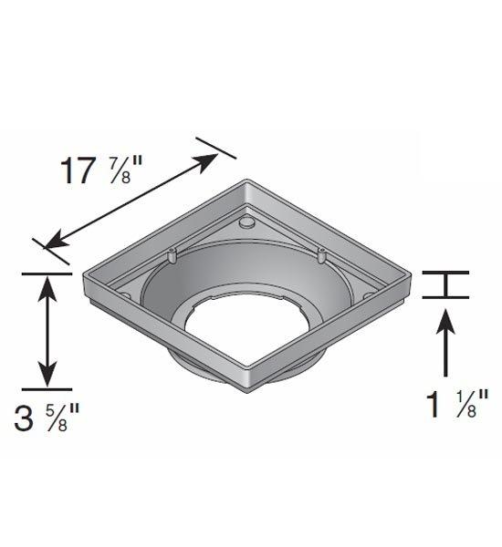 Hub Adapter, Low-Profile Square 18″ x 18″