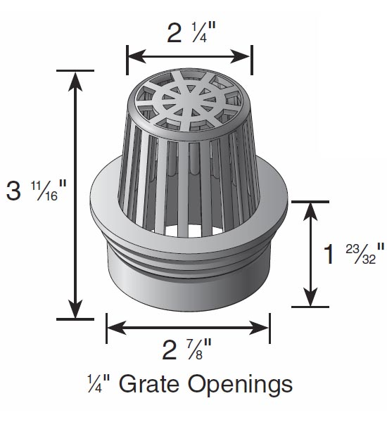 Atrium Grate, 3″ Green – Fits 3″ Sewer & Drain Pipe & Fittings,  3″ Corrugated Pipe and 3″ Triple Wall Pipe