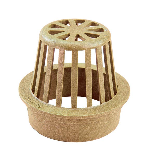 Atrium Grate, 3″ Sand – Fits 3″ Sewer & Drain Pipe & Fittings,  3″ Corrugated Pipe and 3″ Triple Wall Pipe