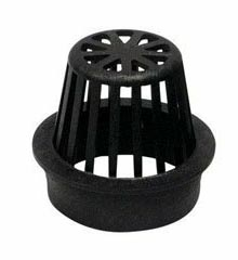 Atrium Grate, 4″ Black – Fits 4″ Sewer & Drain Pipe & Fittings,  4″ Corrugated Pipe and 4″ Triple Wall Pipe