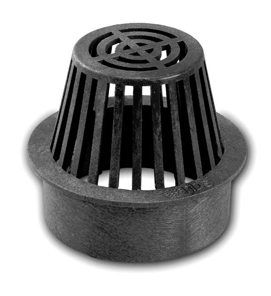 Atrium Grate, 6″ Black – Fits Spee-D® Basin,  6″ Sewer & Drain Pipe & Fittings, and 6″ Corrugated Pipe