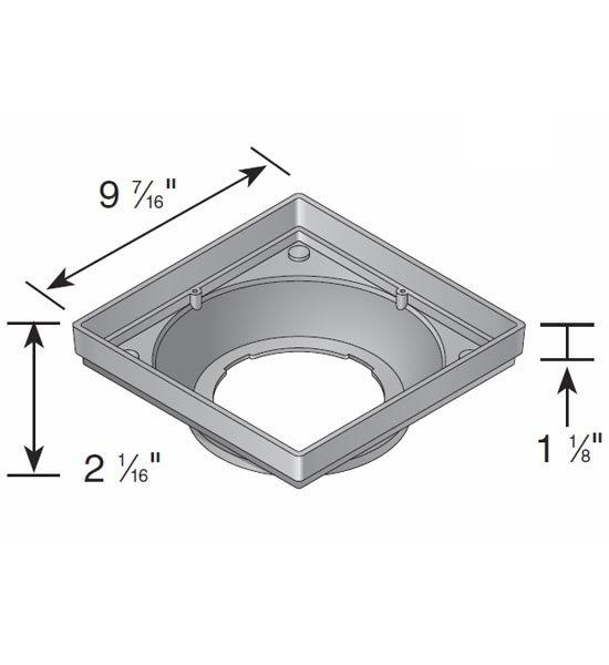 Hub Adapter, Low-Profile Square 9″ x 9″