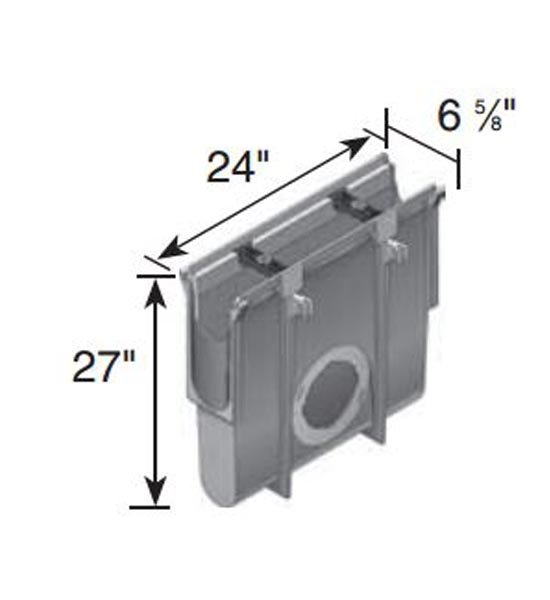 Dura Slope™ In-Line Catch Basin, 1 or 2 Outlet (Must use 1242,1243, 1245, 1266, 1888 Outlet Adapter or 1206 Plug)