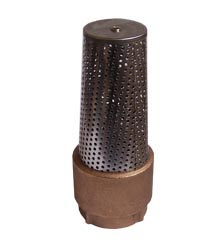 Foot Valve, Bronze With SS Screen, 1″ Female NPT