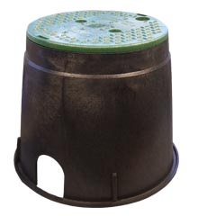 Valve Box, 10″ Round – Plastic With Green Cover